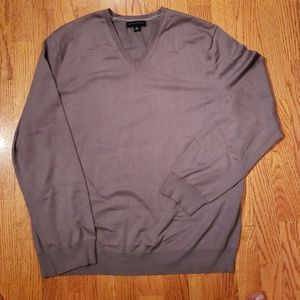 Banana Republic Gray V Neck Sweater XL